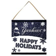 New York Yankees Happy Holidays Banner Sign Christmas Wall Door Decoration