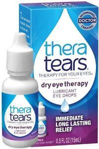 TheraTears Eye Drops for Dry Eyes, Lubricant Eyedrops, 15 mL, 0.5 Fl Oz