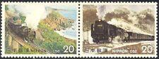GIAPPONE 1975 Treni/macchine a vapore/Locomotive/Trasporto/Rail 2 V Set PR (n25170)