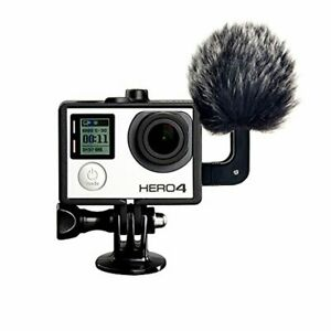 Condenser Stereo Microphone with a Windscreen Muff for GoPro Hero4, Hero3+, Hero