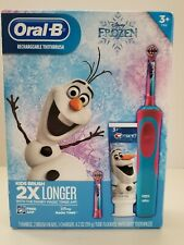 Oral-B Kids Frozen Rechargeable Electric Toothbrush + Crest Olaf Braun BNIB