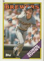 FREE SHIPPING-MINT-1988 (BREWERS) Topps #165 Robin Yount PLUS BONUS CARDS