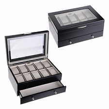 Mele & Co. Jewellery Box For 10 Watches Wooden Gift Box Travel Organizer 432 New