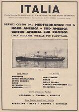 Z5357 Transatlantico Roma - Flotte Riunite Italia - Pubblicità d'epoca - 1932 ad