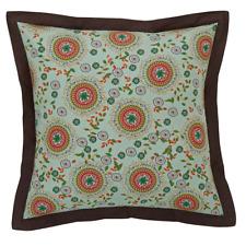 "Capri Fabric Euro Sham Bohemian Floral 100% Cotton 26""x 26"" matches Capri Quilt"