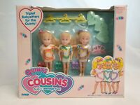 Tyco Quints Cousins Triplets Dolls Teenage-Fun-Set / Puppen NrfB Mint sealed Box