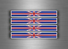 4x sticker adesivi adesivo vinyl auto union bandiera inglese uk regno unito jack