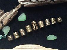 Dreadlock Beads *NEW* 9 x 4-6mm Hole Bronze Mix Viking Dread Beard Hair Beads