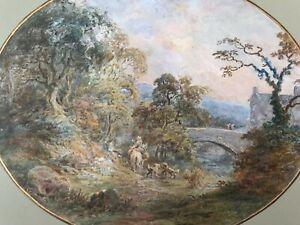 Manner of Thomas Gainsborough (1727-1788) Original Antique Watercolour Painting