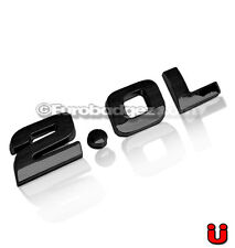 1 - NEW 3D Adhesive 2.0L Gloss Black Rear Badge Emblem 19mm fits VW 2.0L BLACK