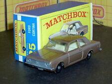 Matchbox Lesney Ford Cortina G.T. 25 d1 BPW no rack SC1 VNM & crafted box
