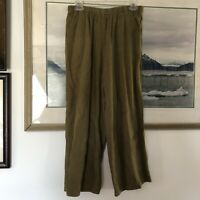 CP Shades 100% Linen Green Crop Pants Sz M A2350