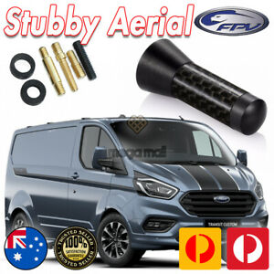 Antenna / Aerial Stubby Bee Sting for Ford Transit Custom - Black Carbon 3.5cm