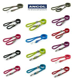 Strong Ancol rope SLIP leads and CLIP leads,finished with leather.20-75kg dogs💕
