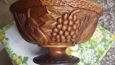 large signed 1980's BOSSANT WOODEN BOWL