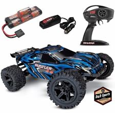NEW Traxxas Rustler 4x4 Brushed RTR RC Truck w/Battery & Quick Charger BLUE