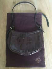 Authentic Mulberry Small Brown Leather Congo Pattern tote grab strap handbag