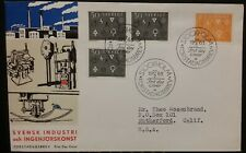 Sweden 1963 Engineering Skill and Industry Stockholm SHS  FDC Perf Varieties