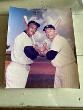 Vintage MICKEY MANTLE & ROGER MARIS 8x10 Color Photo NY Yankees OF  MLB HOF RARE