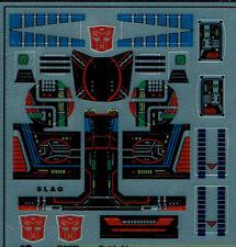 TRANSFORMERS GENERATION 1, G1 AUTOBOT SLAG REPRO LABELS/ STICKERS