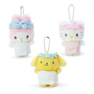 Japan Sanrio Hello Kitty My Melody Pompompurin Plush Mascot Keychain (Bath)