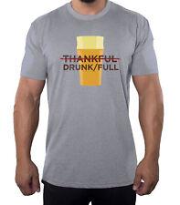 Thankful/DrunkFull Men's Shirts, Funny Men's Tees, Thanksgiving Shirts for Men!