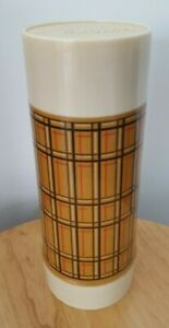 Vintage Large 1970's ALLADIN'S Best-Buy 32oz. Thermos Bottle plaid w/ lid & cup