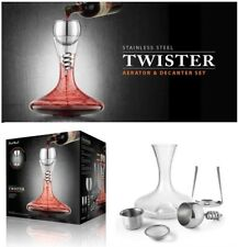STAINLESS STEEL TWISTER Wine Aerator & Glass Decanter Red Taste Enhancer Carafe