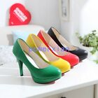 Womens Wedding High Heel Platform Fashion New Stilettos Pumps Shoes ALL US Sz
