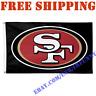 Deluxe San Francisco 49ers Logo Banner Flag BLACK 3x5 ft NFL 2019 Fan Home Decor