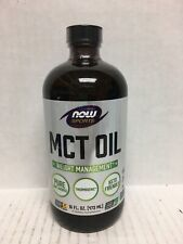 NOW Sports MCT Oil Weight Management 16fl Oz/473ml, Exp-02/2022