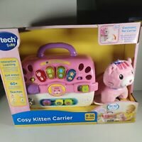 *Brand New* VTech Cosy Kitten Carrier Interactive Toy Pink Plush Toy
