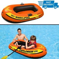 Small Inflatable Boat For Kids Toddler One Person Child Pool Mini Rubber Dinghy