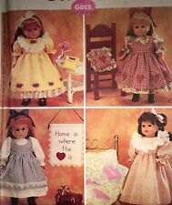 """NEW 2001 'MC CALL'S' 18"""" DOLL CLOTHES & CRAFT SEWING PATTERN 3275ONE SIZE"""