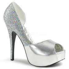 Silver Salsa Dance Heels Drag Queen Pageant Crossdresser Shoes Wide 12 13 14 W