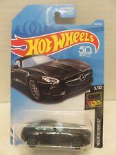 2018 Hot Wheels Nightburnerz '15 Mercedes-AMG GT 5/10 Die-Cast 142/365 Black