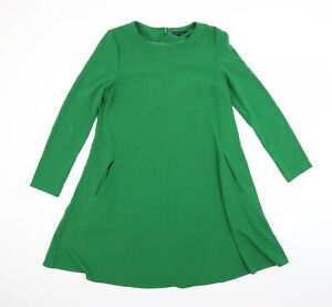 Marks and Spencer Womens Green   A-Line  Size 12