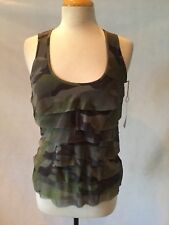 NWT SWEET PEA BY STACY FRATI CAMOUFLAGE LAYERED TOP- SIZE SMALL