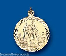St. Christopher Yellow Gold Saint Christopher Pendant 19mm