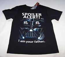 Star Wars Spoiler Alert Boys Black Printed Short Sleeve T Shirt Size 10 New