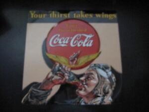 Embossed Tin Coca-Cola Aviator Man 3-D Sign -NEW