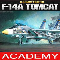 1/48 F-14A TOMCAT U.S. NAVY FIGHTER #12253 ACADEMY HOBBY MODEL KITS