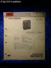 Sony Service Manual WM 2013 Cassette Player (#0681)