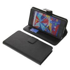 Tasche für Archos Diamond S Smartphone BookStyle Schutzhülle Buch Book Schwarz