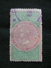 Australia:  NSW 1868 8/- Revenue Stamp Used