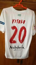 Camiseta Sevilla f c vs  F c Barcelona,final copa issue match worn shirt,Vitolo