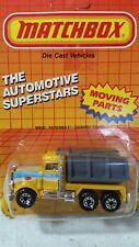 vintage Matchbox 1981 Automotive superstars Peterbilt Quarry truck 1/64 scale
