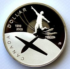 2009 CANADA 100th ANNIVERSARY OF FLIGHT IN CANADA PROOF SILVER DOLLAR COIN