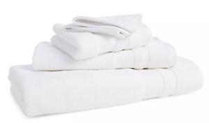 """RALPH LAUREN WILTON SOLID WHITE (1) HAND TOWEL 16"""" x 32"""""""
