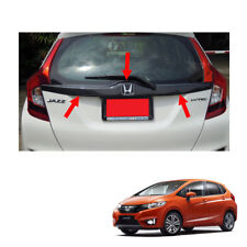 Tailgate Rear Door Accent Carbon Black Cover For Honda Jazz Fit GK5 2014 - 2017